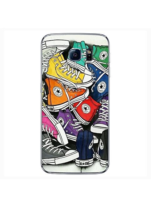 People's Cover Samsung S6 Kabartmalı Kapak Renkli